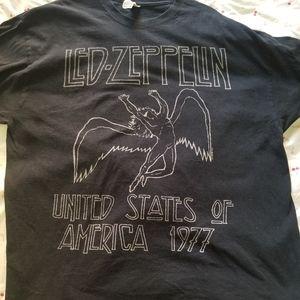 Led Zeppelin 1977 USA T Shirt XL